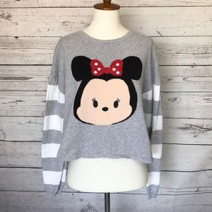 Disney Sweaters - Disney Grey Minnie Mouse Tsum Tsum Sweater Large